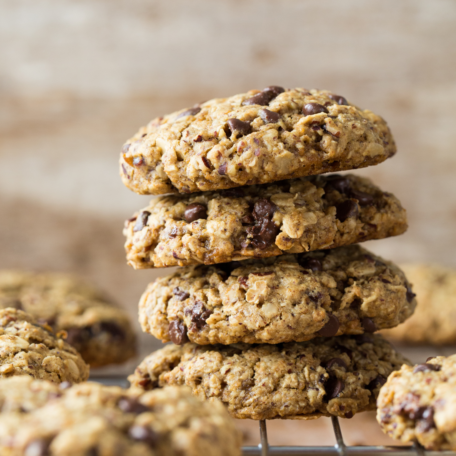Turtle Oatmeal Cookies With Pecans Chocolate And Medjool