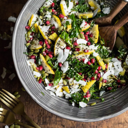 Superfood Crunch Salad with Homemade Balsamic Apple Vinaigrette