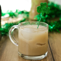 Homemade Baileys Irish Cream, made vegan.