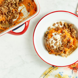 Sweet Potato Crumble Casserole