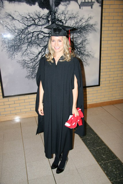Me at my Master's Convocation October 2008