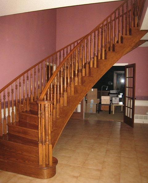 A Huge staircase in the entry way