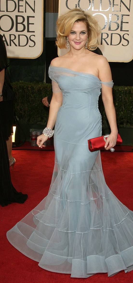 drew barrymore golden globes 2009 04   A Good Sign