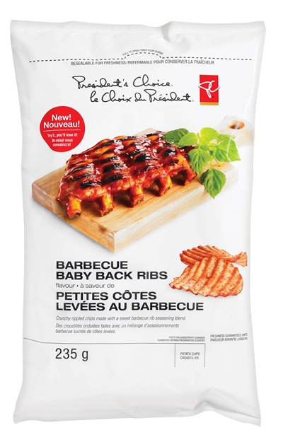 PC Barbecue Baby Back Ribs Riplpled Potato Chips