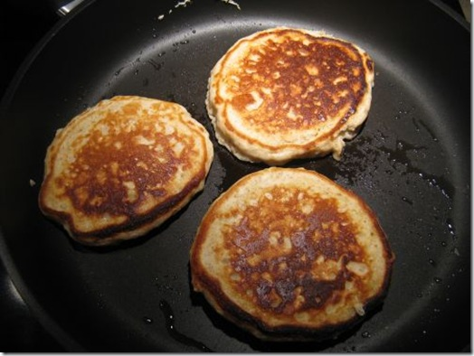 wholegrain pancake flipped thumb   Whole Grain Oatmeal Pancakes: Zesty Style