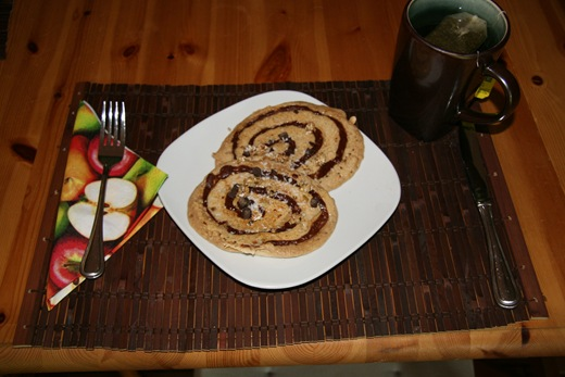 img 1692 thumb   Healthy Peanut Butter Chocolate Coco Swirl Pancakes