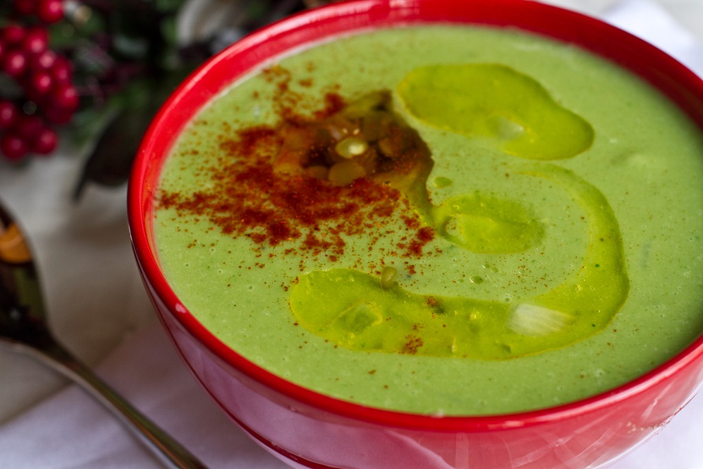 High Protein Green Monster Holiday Soup — Oh She Glows