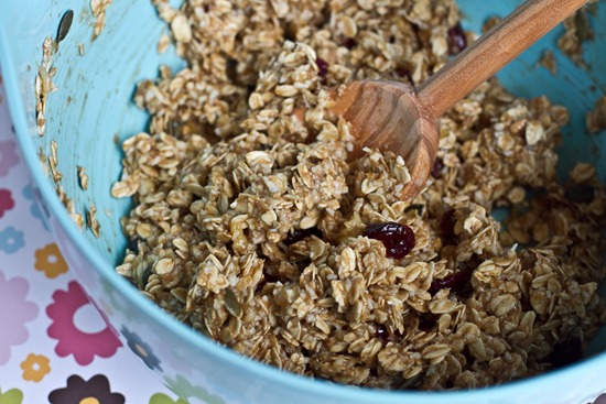 IMG 6986 thumb   Healthy Banana Cranberry Oat Bars
