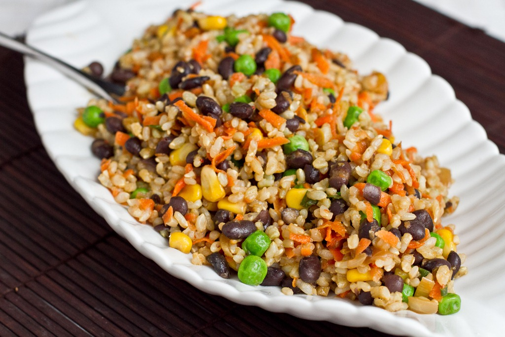 Spicy Rainbow Rice and Bean Salad — Oh She Glows