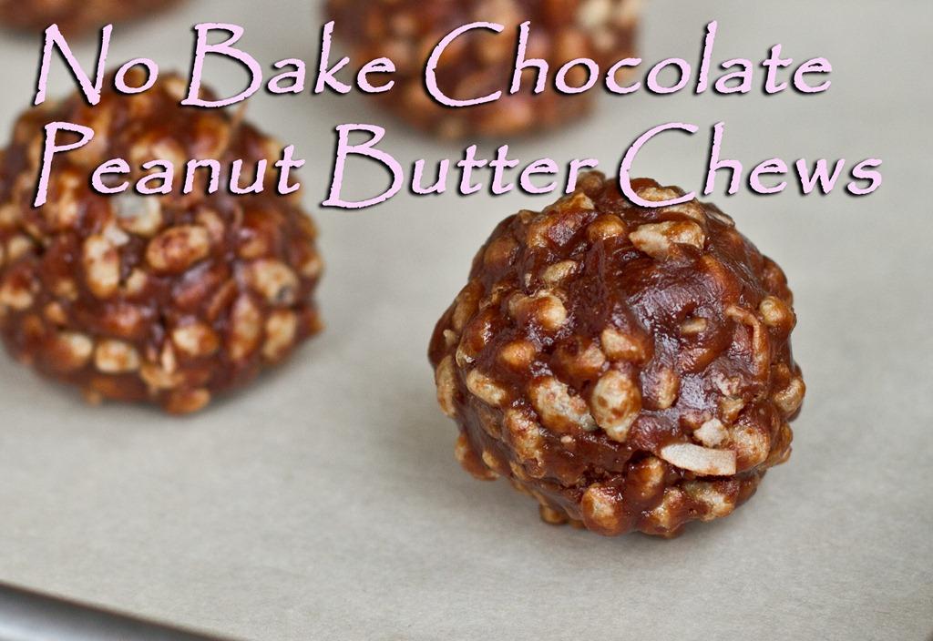 No Bake Chocolate Peanut Butter Chews — Oh She Glows