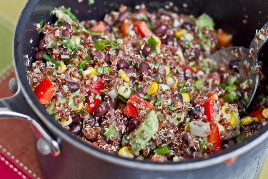 IMG 9480 thumb   Red Quinoa and Black Bean Vegetable Salad
