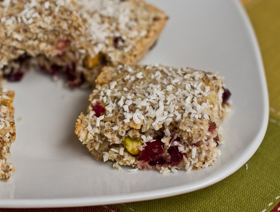 IMG 9532 thumb2   Tropical Lemon Cranberry Coconut Chia Bars