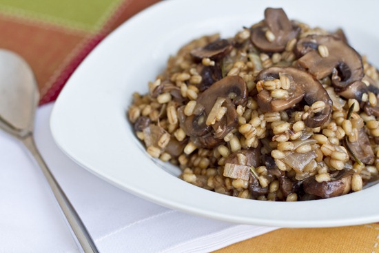 Mushroom Risotto with Caramelized Onions — Oh She Glows