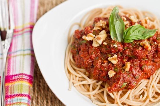 IMG 1021   Tomato Walnut Basil Pasta