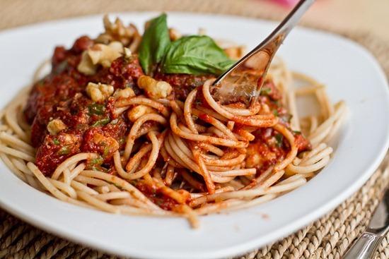 IMG 1059   Tomato Walnut Basil Pasta