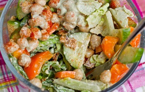 IMG 1309   Tahini Avocado Chickpea Salad