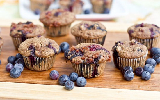Mini Whole Wheat Blueberry Breakfast Muffins — Oh She Glows