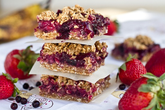 IMG 3729   Berry Bliss Oat Squares