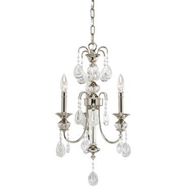 Noir Collection Polished Nickel 3 light Chandelier   Chandeliers  Which One Is Your Fav?