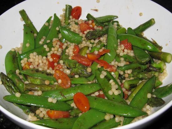 Snap pea couscous