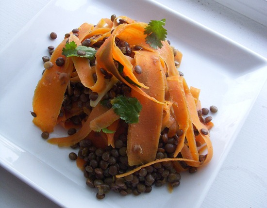 lentil salad carrot orange   Recipe Link Love, March 5