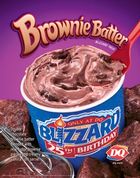 DQ10Q4027P BrownieBatter 28 3x3   Double Chocolate Brownie Dough 'Blizzard'