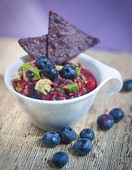 blueberry avocado salsa small thumb   Guest Post: Manifest Vegan