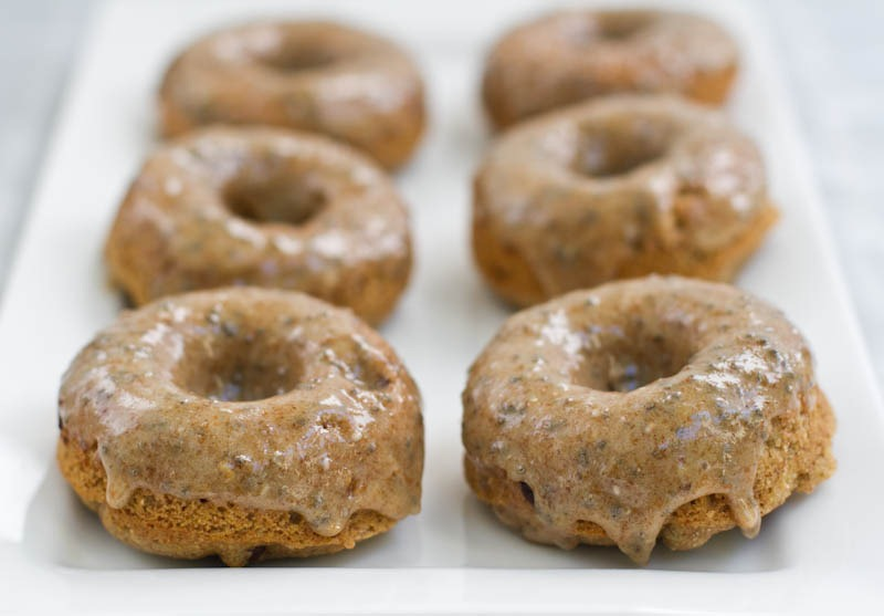 Chocolate Chip Cookie Dough Glazed Doughnuts — Oh She Glows