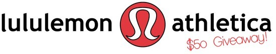 lululemon logo thumb   In Case You Missed It & $50 Lululemon Giveaway