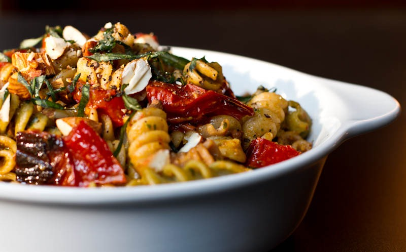 "... pasta in his mouth – is ""not as good as this roasted tomato pesto"