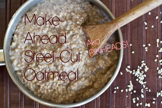 IMG 2084 2 thumb   Make Ahead Steel Cut Oatmeal & 4 New Oatmeal Recipes