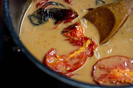 IMG 2184 thumb   Creamy Roasted Tomato, Garlic, & Onion Coconut Soup