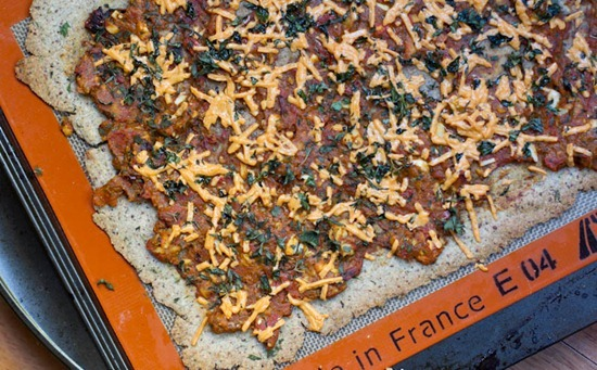 IMG 2237 thumb   Gluten Free Almond & Buckwheat Flour Pizza Crust