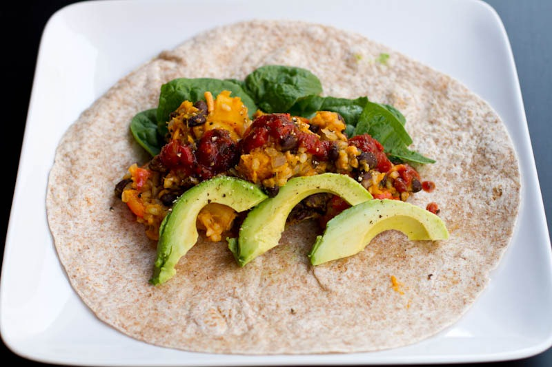 ... black bean burritos with lime butternut squash with black bean s and