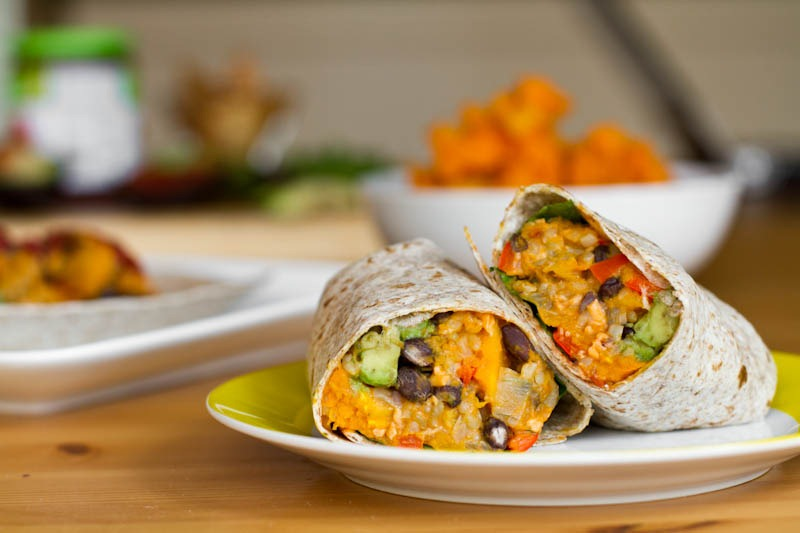 ... bean burritos with lime butternut squash with black bean s and walnuts