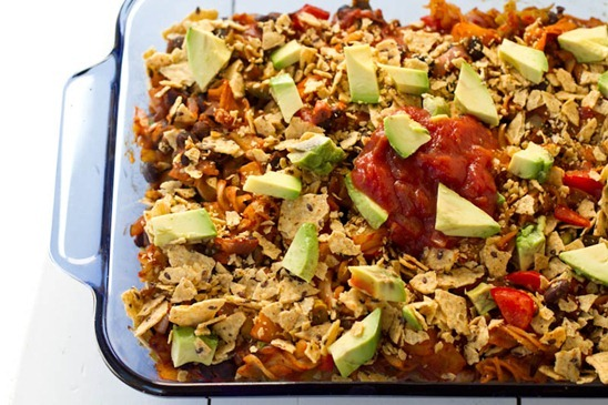 Naughty & Nice Vegan Enchilada Casserole — Oh She Glows