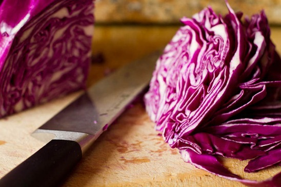 Over The Rainbow Cabbage Salad with Tahini-Lemon Dressing ...