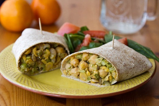 IMG 6236   Lunch This Week: Chickpea Salad Wraps