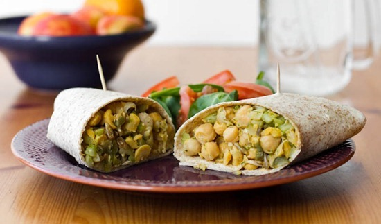 IMG 6247   Lunch This Week: Chickpea Salad Wraps
