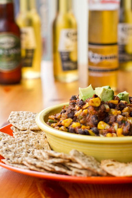 IMG 7269   Easy Super Bowl Recipe: Black Bean Chili Dip