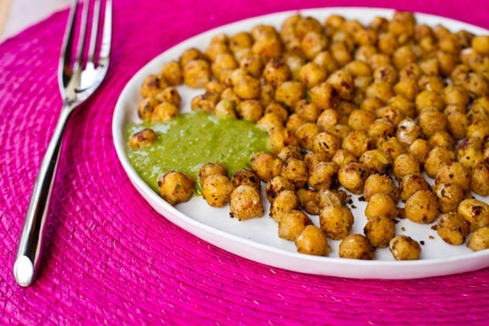 "IMG 7426   ""Battered"" Fried Chickpeas & Chickpea Basil Pesto"