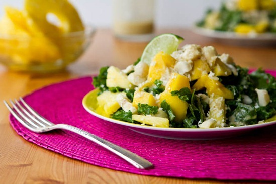 Pineapple, Mango, And Meyer Lemon Salad Recipe — Dishmaps