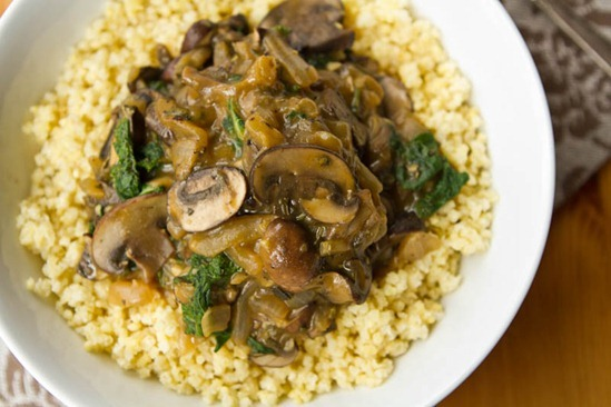 Cozy Millet Bowl with Mushroom Gravy and Kale — Oh She Glows