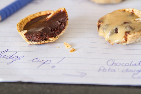 One Bite Cookie 'n Fudge Cups — Oh She Glows