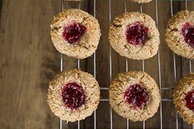 IMG 9693   Raspberry Almond Thumbprint Cookies (Gluten Free & Vegan)