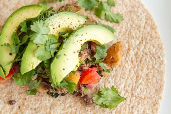 Spicy Potato 'n Black Bean Burritos — Oh She Glows