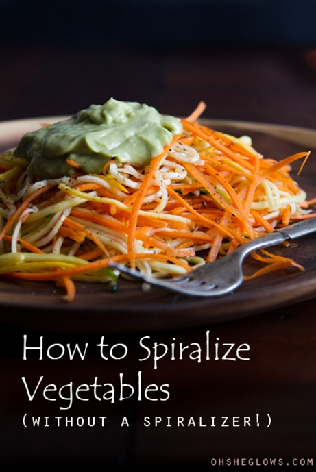 "how to spiralize vegetables 4363   How To Spiralize Vegetables (Without A Spiralizer!) + 2 Veggie ""Pasta"" Dishes"