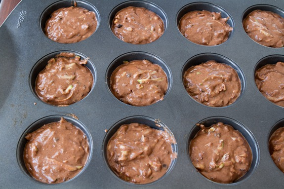 oil free vegan choclate zucchini muffins 3030   Oil Free Chocolate Zucchini Walnut Muffins
