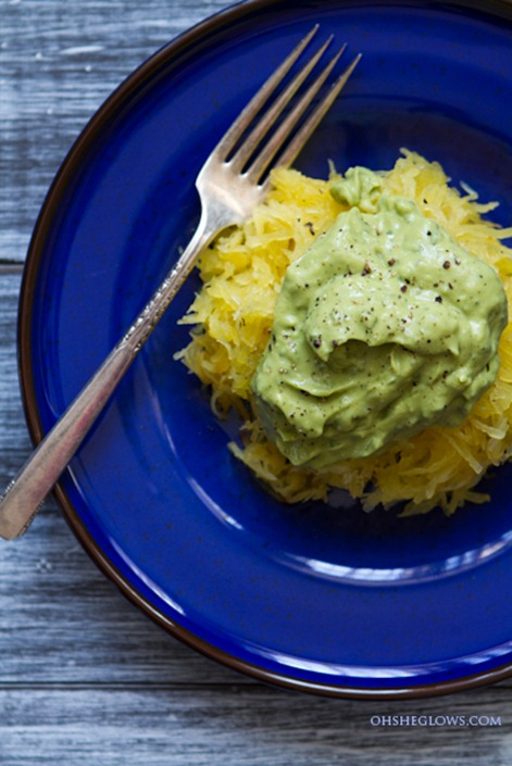 avocado pasta with squash-3128