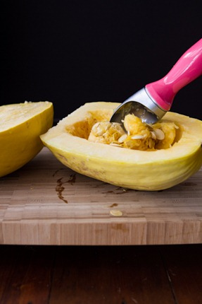 how to roast a spaghetti squash 6677   Creamy Avocado Spaghetti Squash Pasta + How To Roast Spaghetti Squash